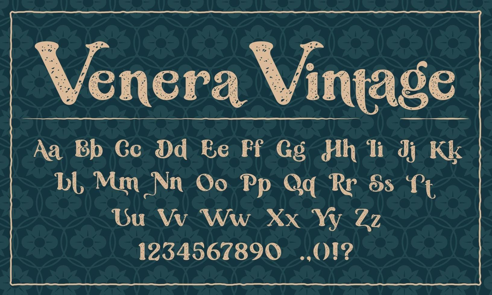 een decoratief lettertype in de grungestijl. perfect voor het merk, voor uitnodigingen, ansichtkaarten, logo's, winkels en vele andere toepassingen. vector
