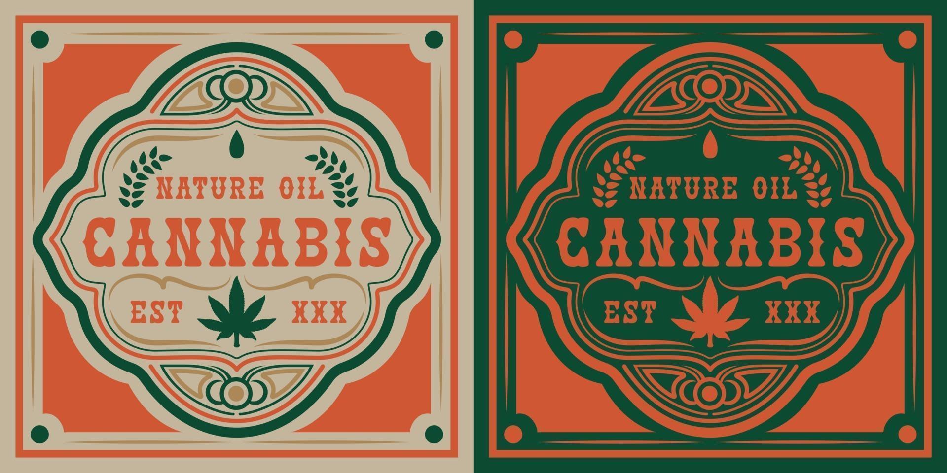 vector badge van cannabisblad