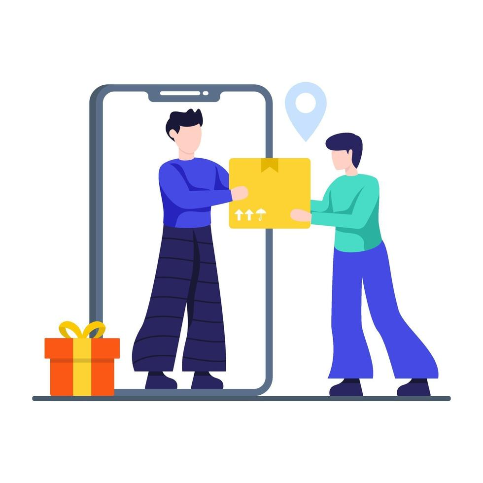 snelle levering serviceconcept vector