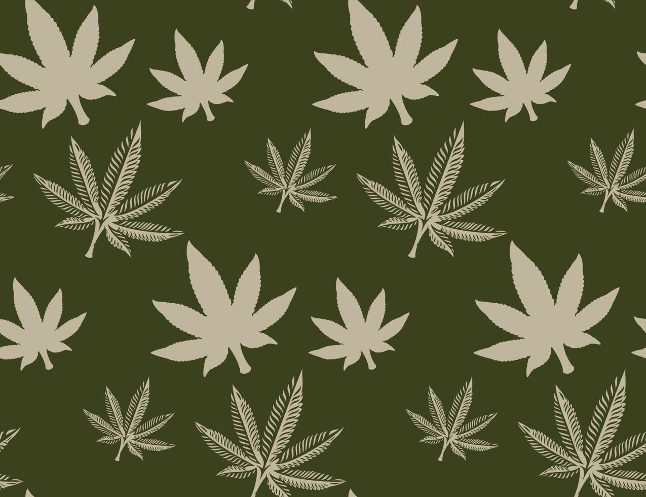 naadloze patroon met een cannabisblad vector