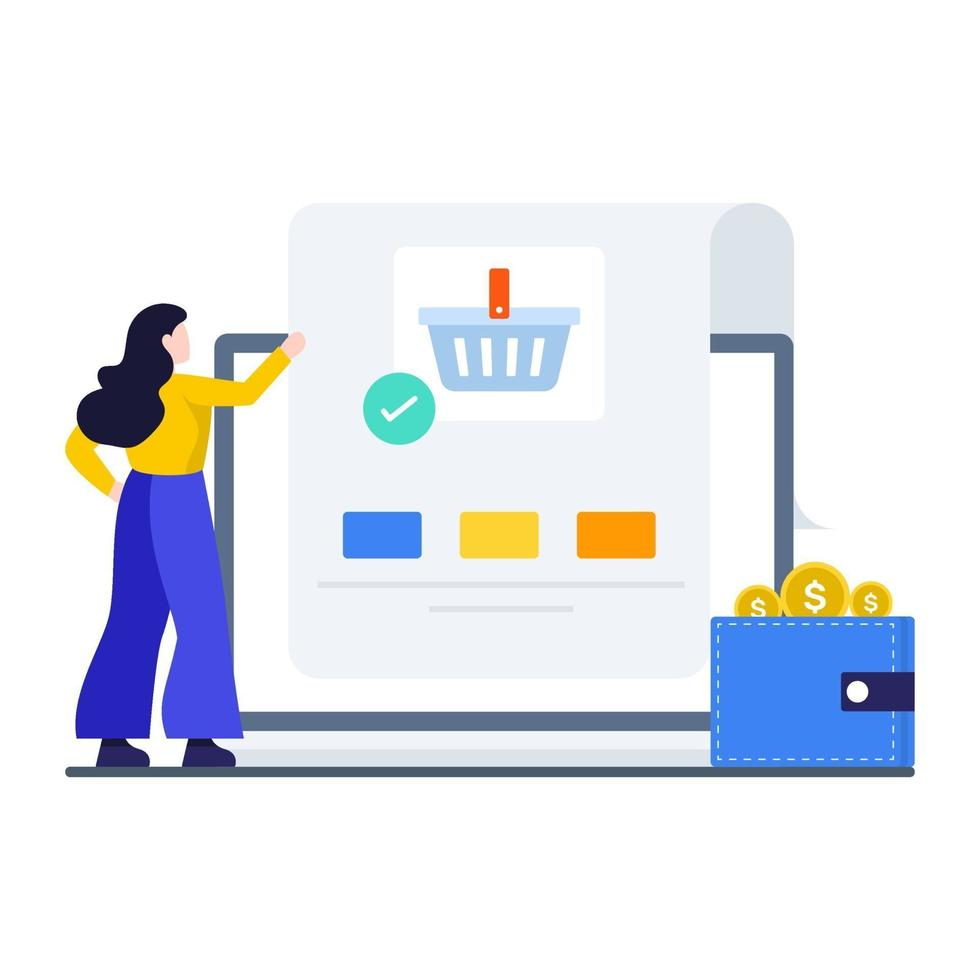 online winkelen bestelconcept vector