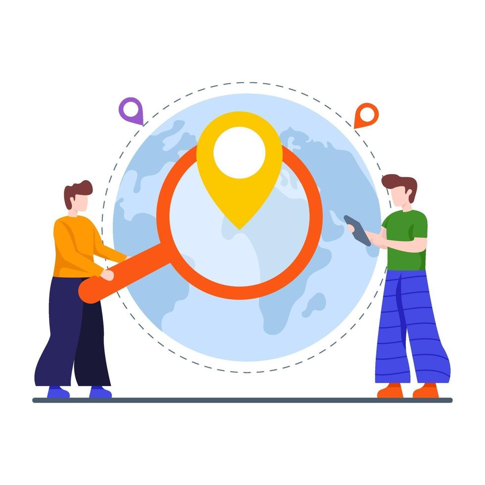 lokale zoekmachine optimalisatie concept vector