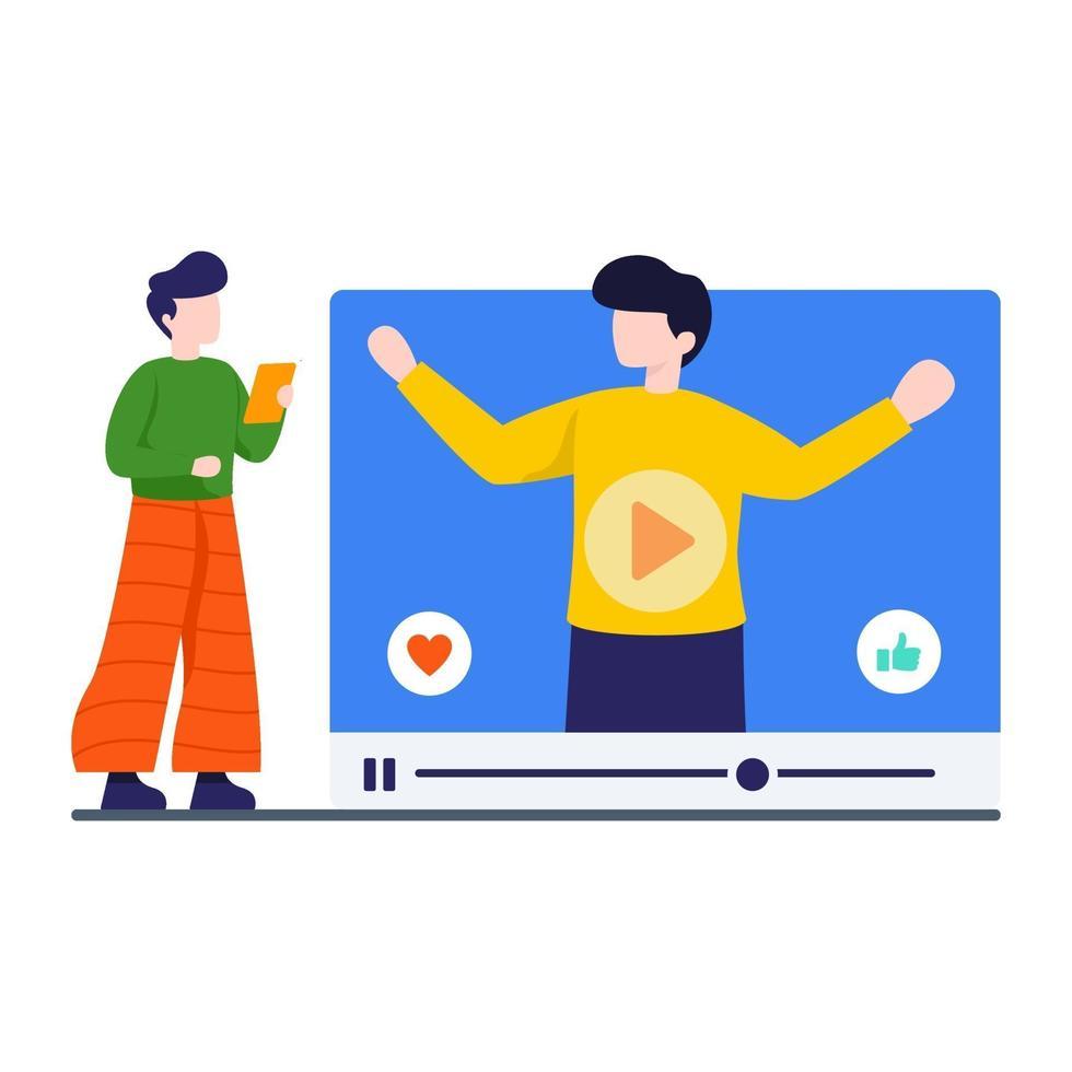 videostreaming website concept vector