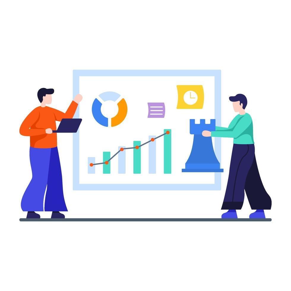 marketingstrategie en bedrijfsconcept vector