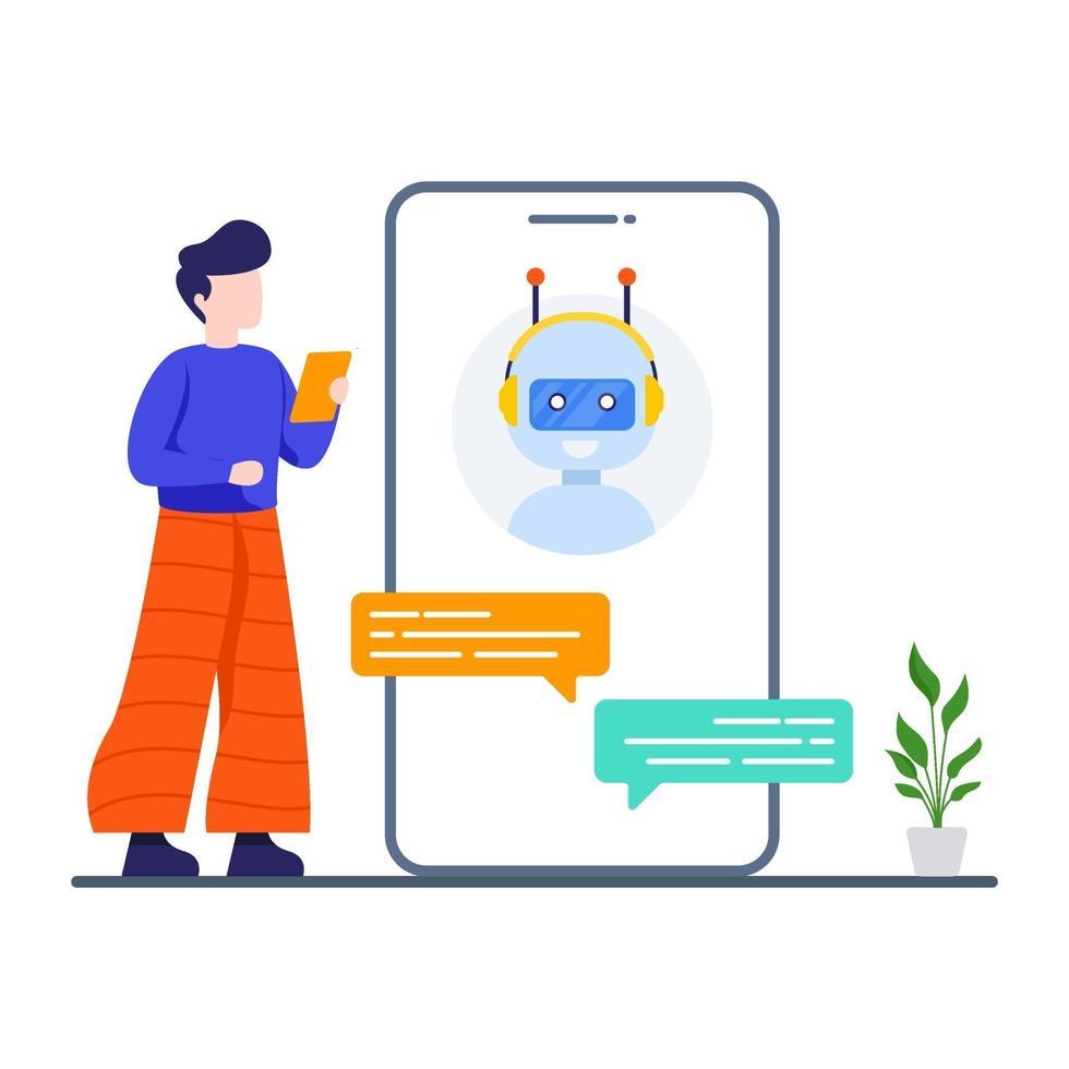 online chatgesprek concept vector