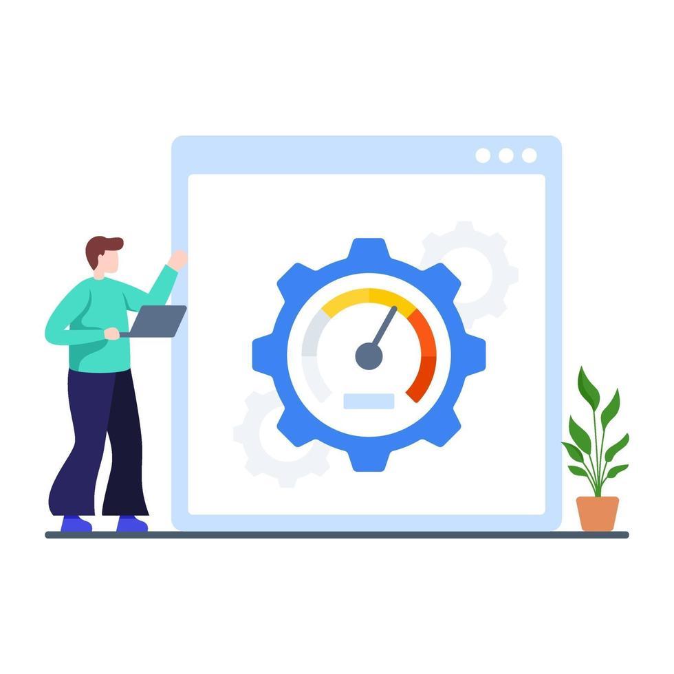 websiteprestaties en snelheidsconcept vector