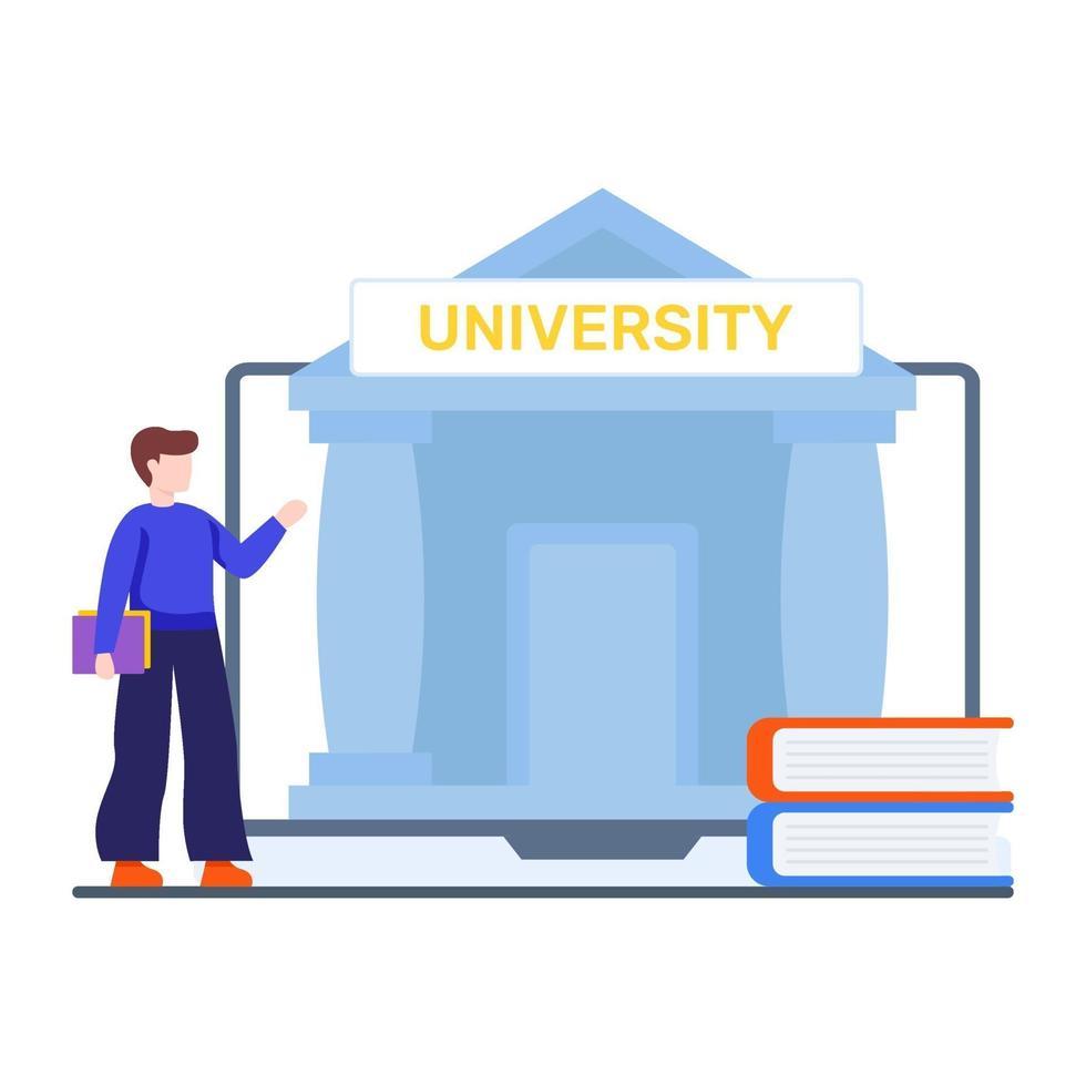 online universitair onderwijsconcept vector