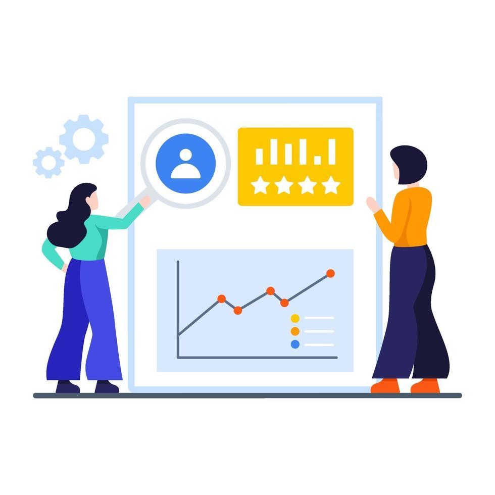 klantrelatiebeheer concept vector