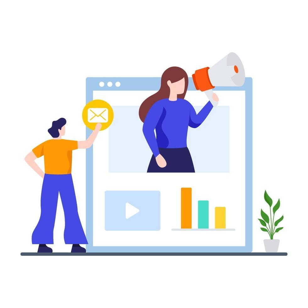 digitale marketingcampagne concept vector