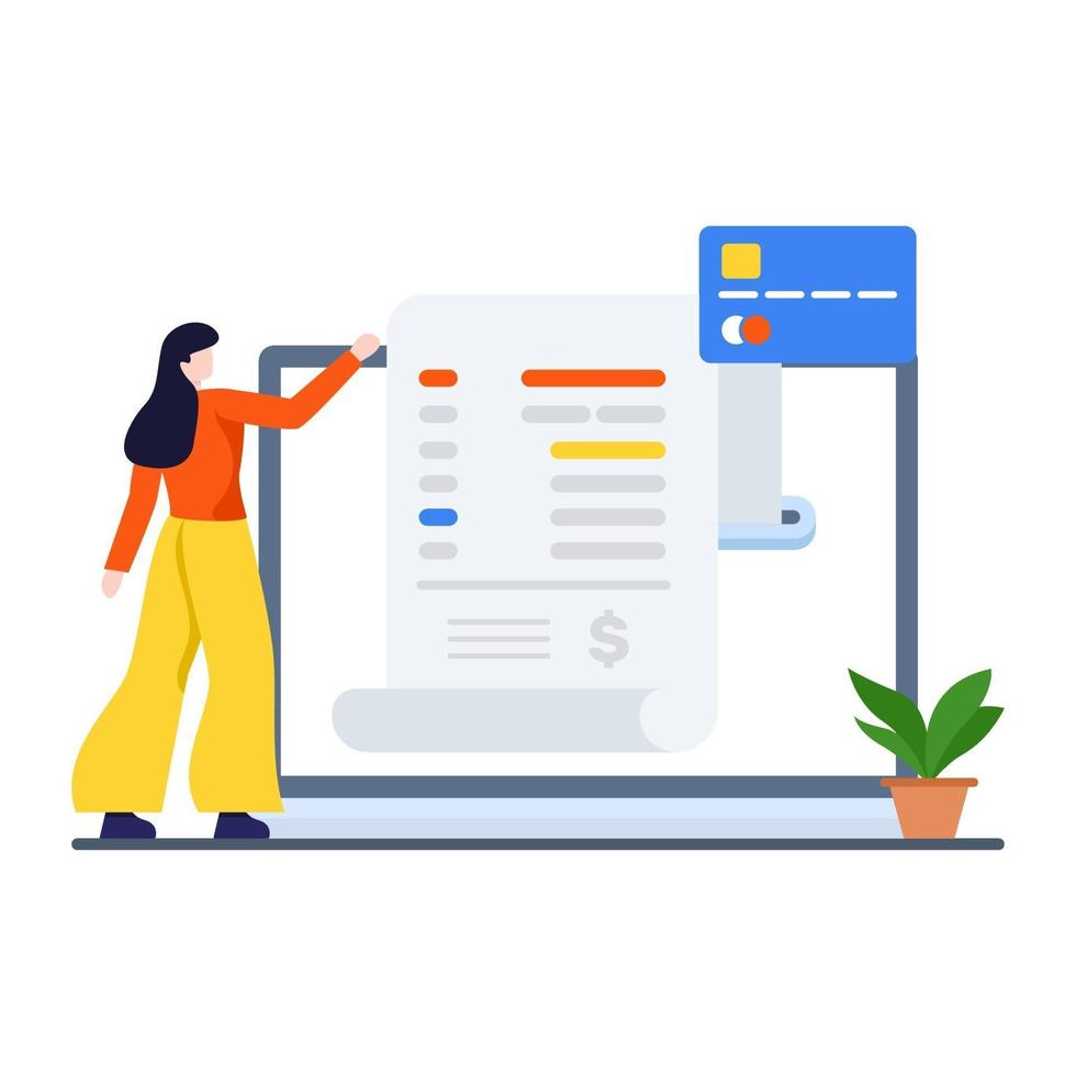 online winkelen factuurconcept vector