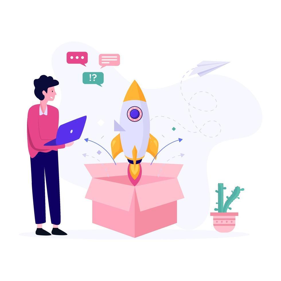 nieuw productlanceringsconcept vector