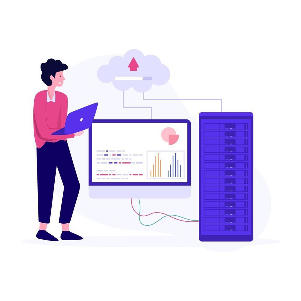 data analist studio concept vector