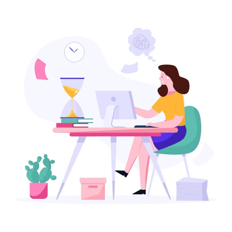 deadline voor taakconcept vector