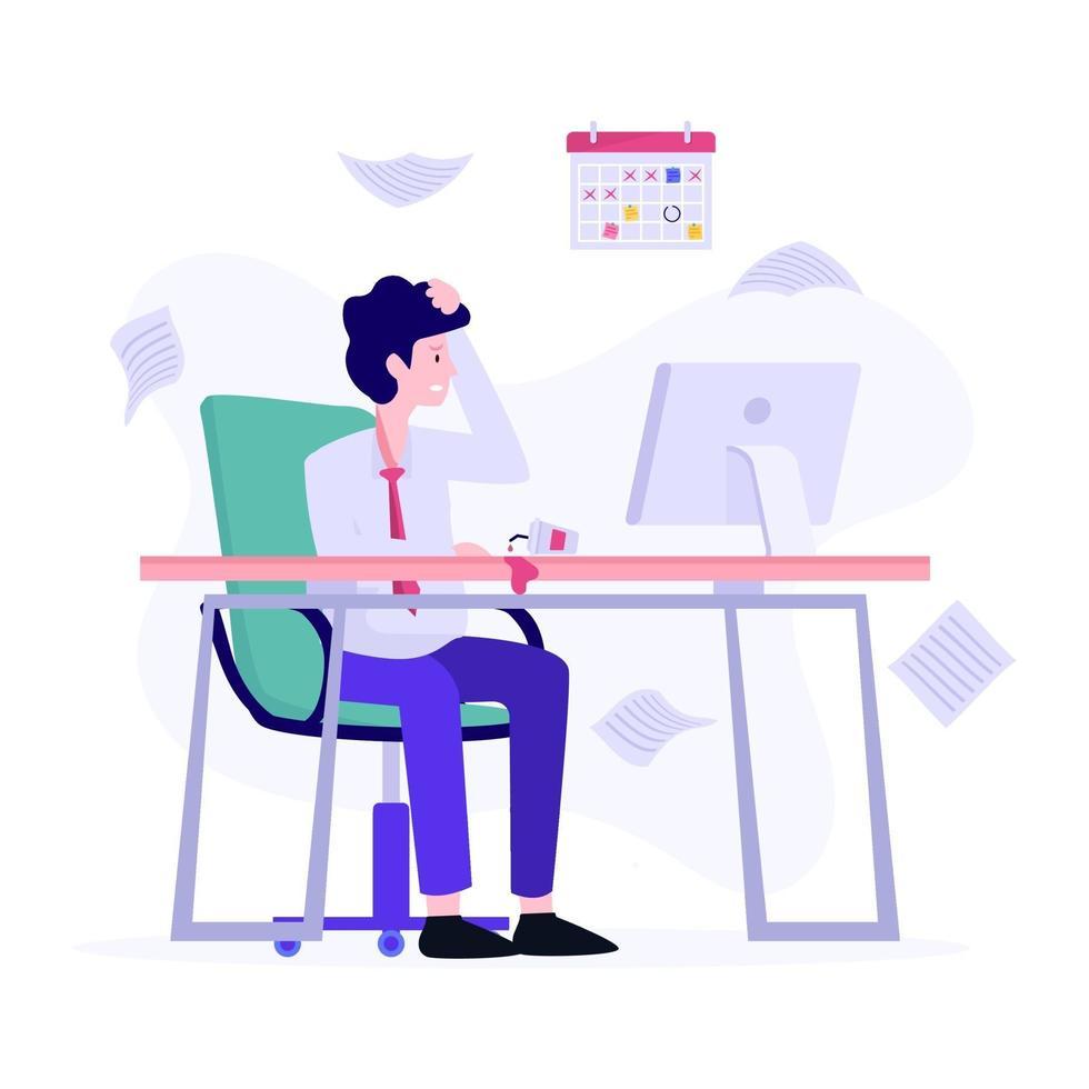 accountant werkzaam in kantoorconcept vector