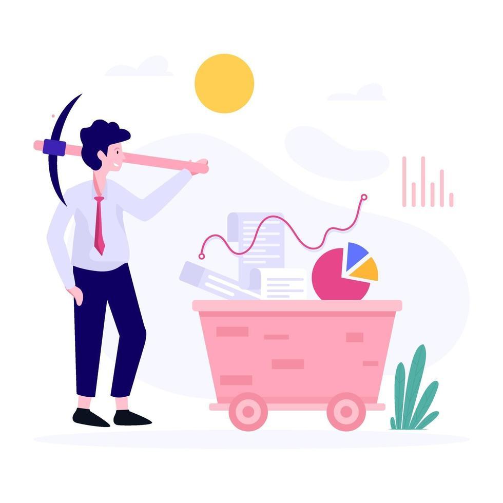 zakenman graven concept concept vector
