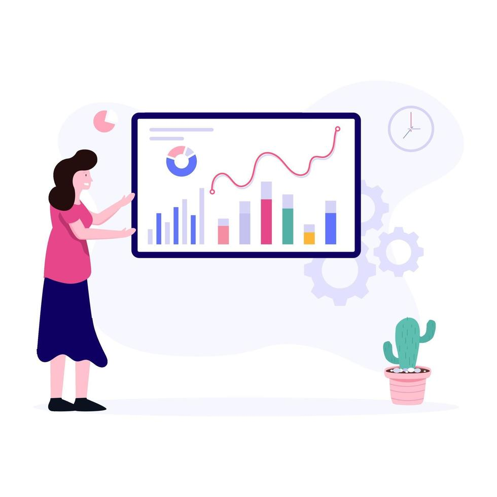 financieel management trainingsconcept vector