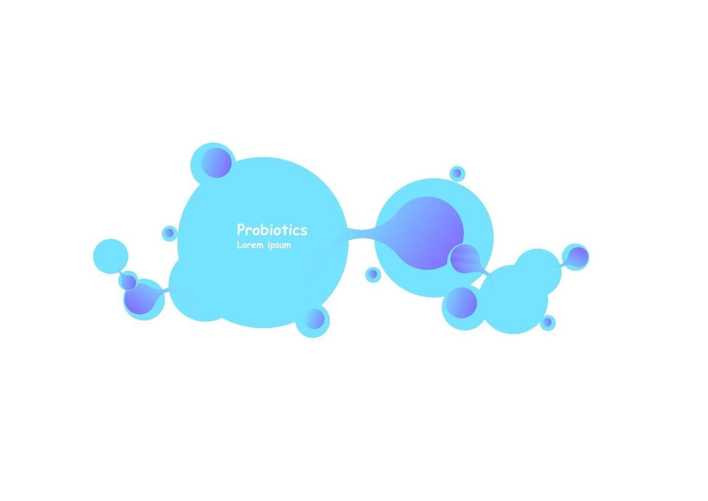 probiotica bacteriën vector ontwerp. probiotica bacteriën vector ontwerp.