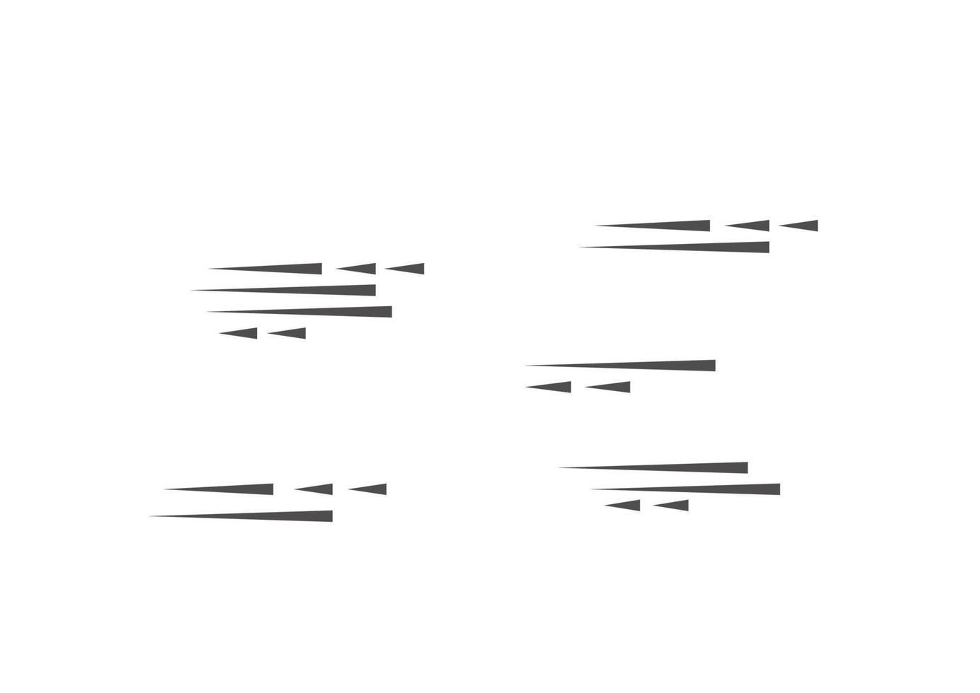 snelheidslijnen geïsoleerde set. bewegingseffect voor uw ontwerp. zwarte lijnen op een witte achtergrond. vector illustratie