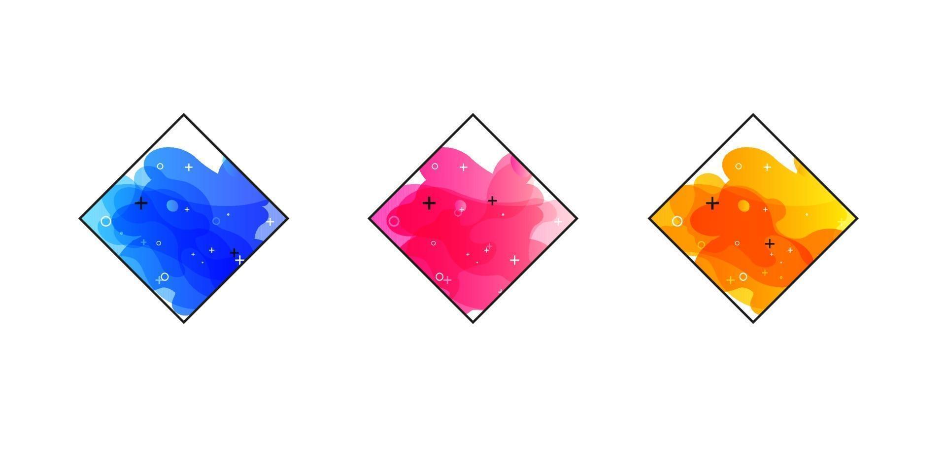 gradiënt geometrische banners met vloeiende vloeibare vormen. dynamisch vloeiend ontwerp voor logo, flyers of presentaties. abstracte vector achtergrond