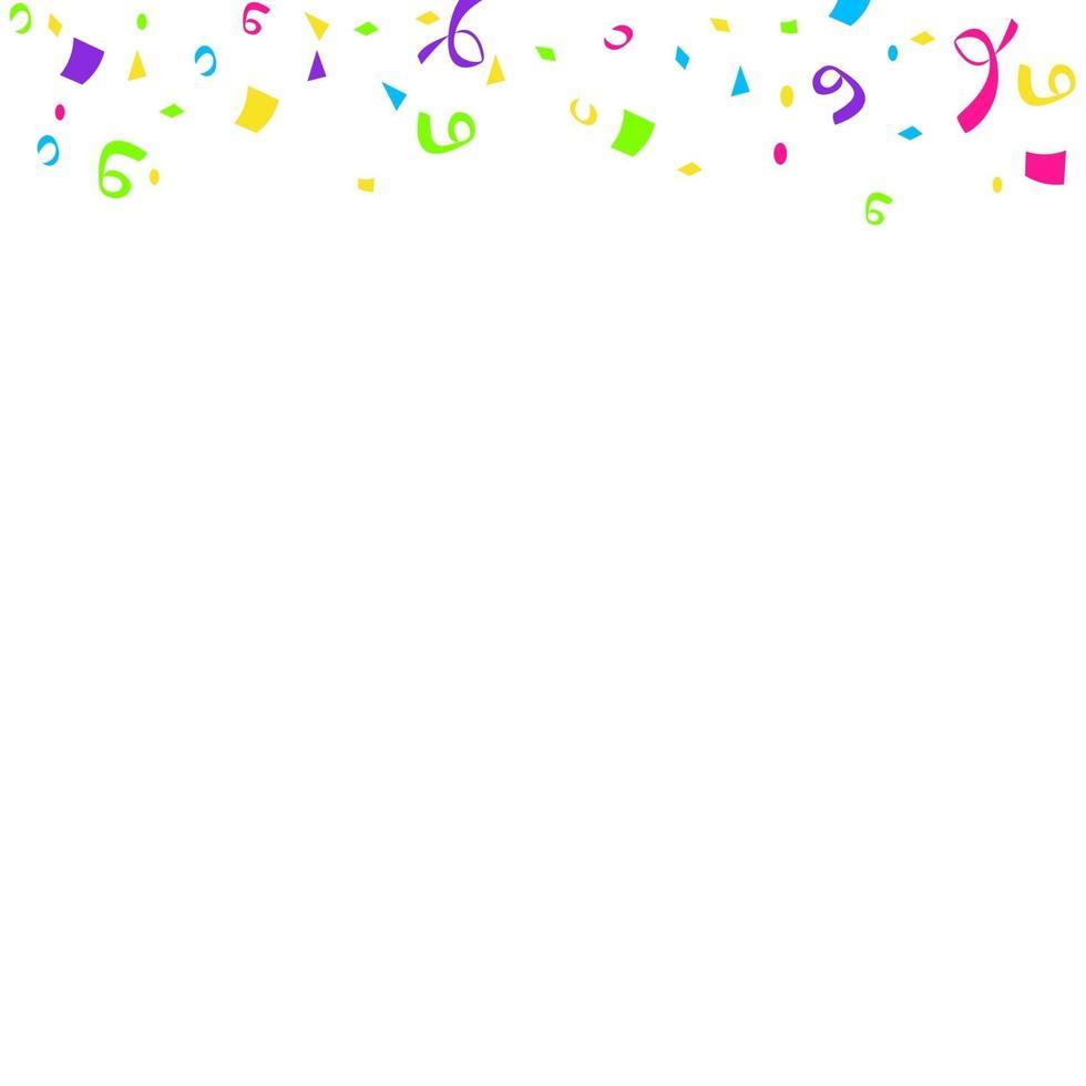 kleurrijke heldere confetti geïsoleerd op een witte achtergrond. feestelijke vectorillustratie vector