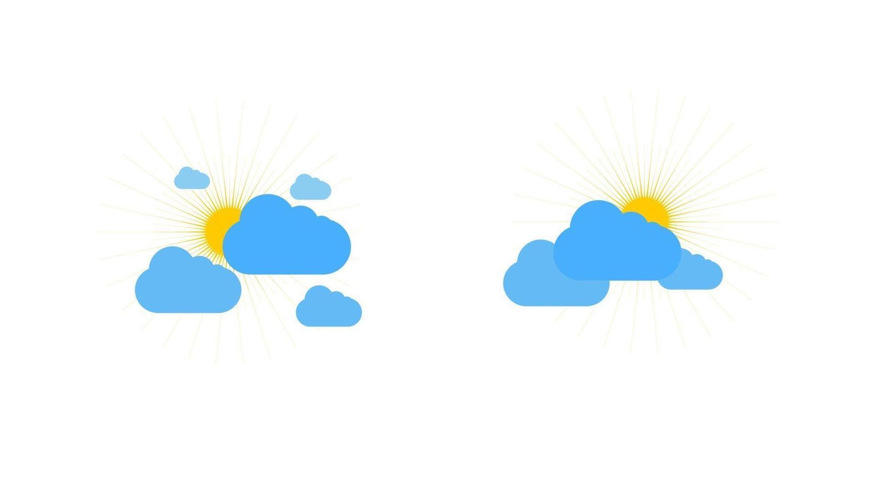 zonnig weerpictogram teken op witte achtergrond. gele zon illustratie vector