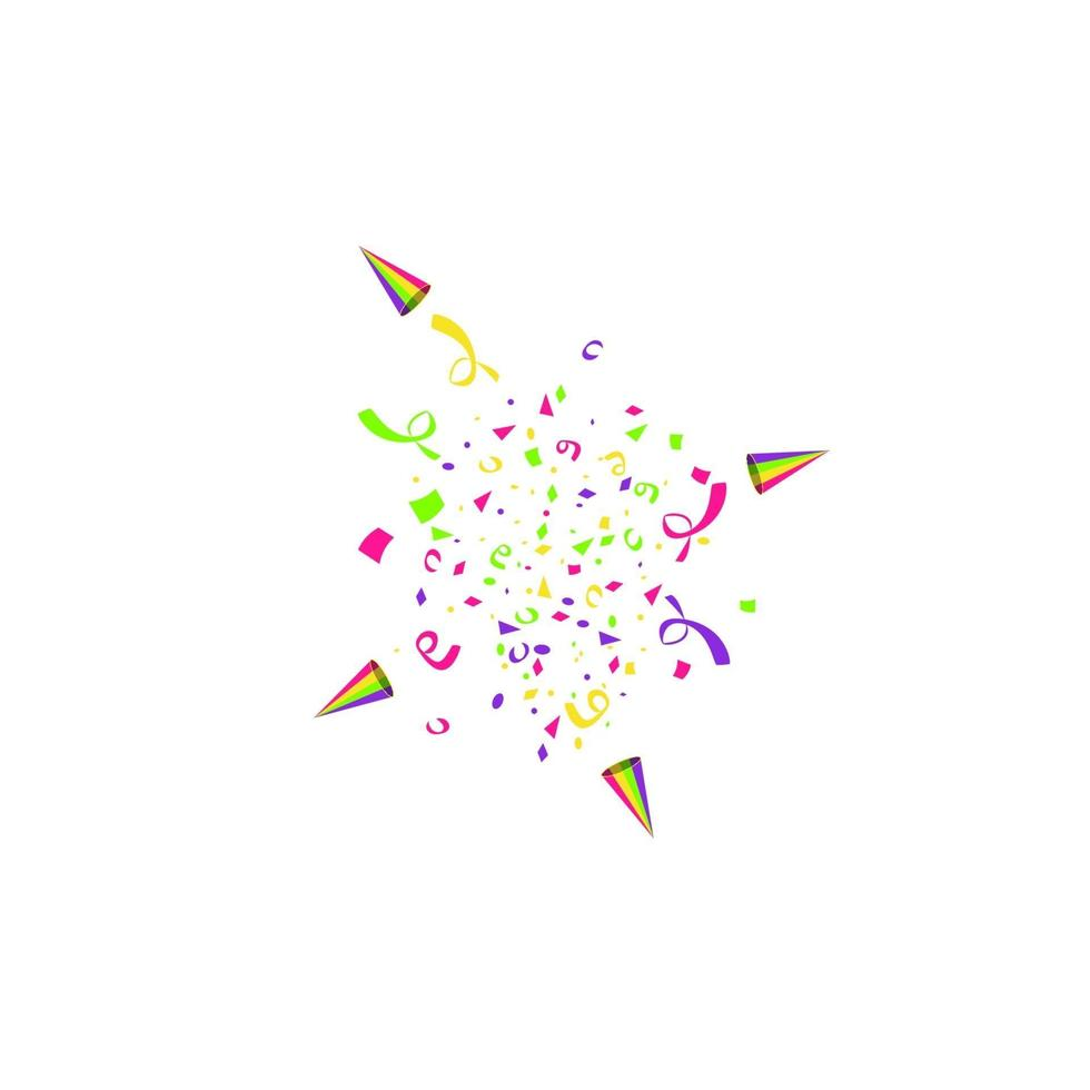 vector confetti. feestelijke illustratie. partij popper geïsoleerd op een witte achtergrond