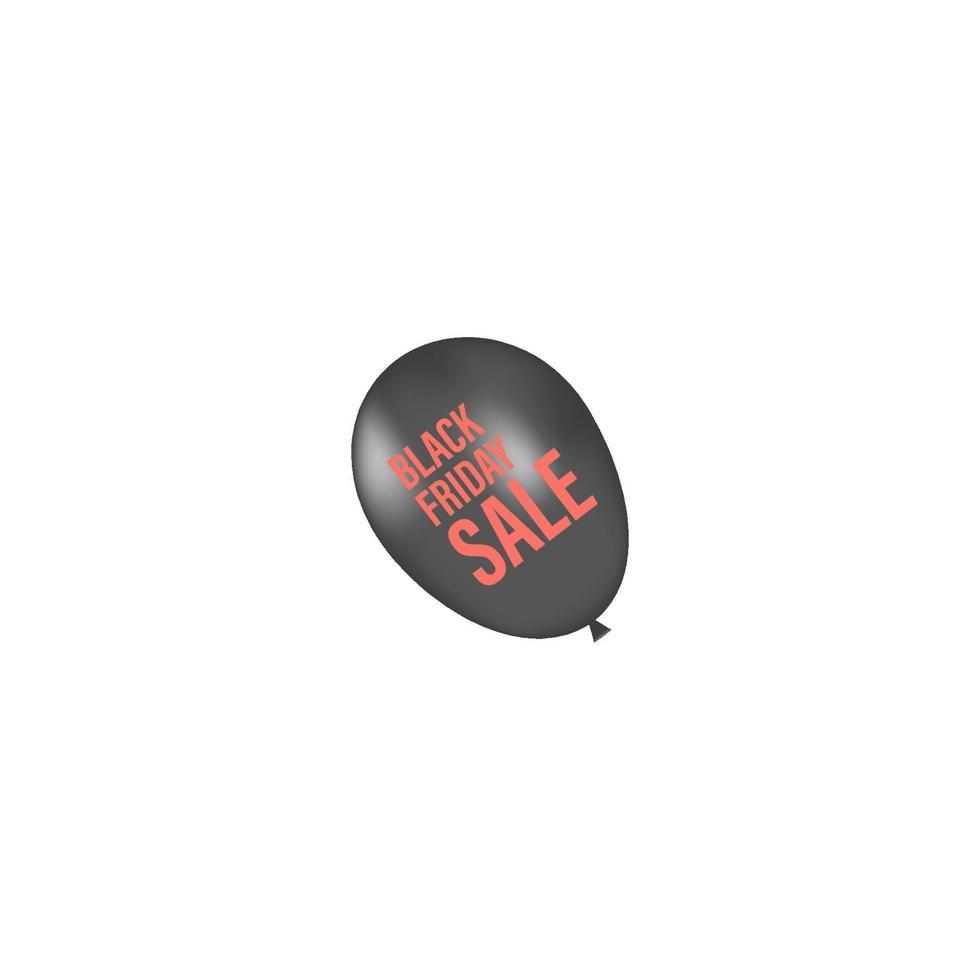 zwarte vrijdagballon. vector