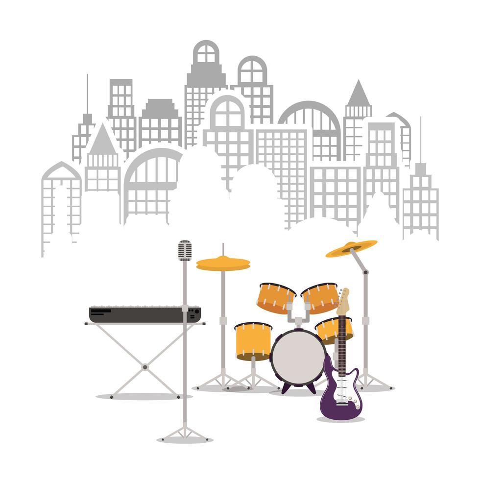 muziekinstrumenten pictogrammen vector