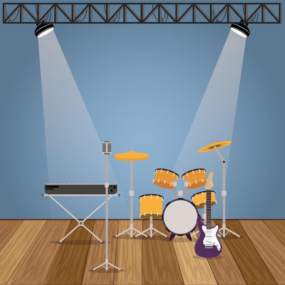 muziekband instrumentenset vector