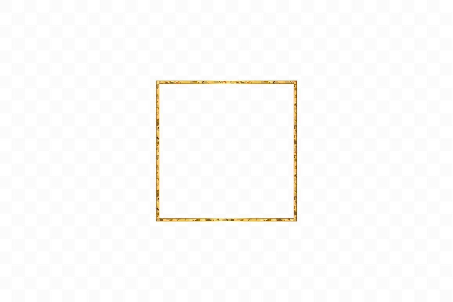 goud glanzend gloeiend vintage frame geïsoleerd. gouden luxe realistische rechthoekrand. vector