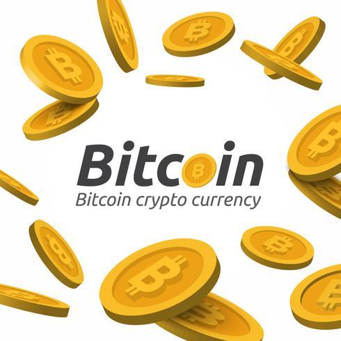 Gouden Bitcoin-teken op witte achtergrond vector