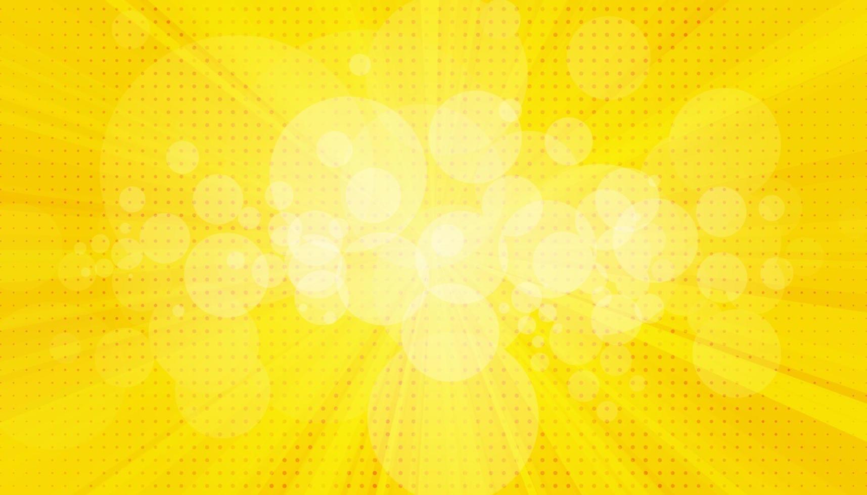 popart achtergrond. retro gestippelde achtergrond. vector illustratie. halftoon geel pop-art