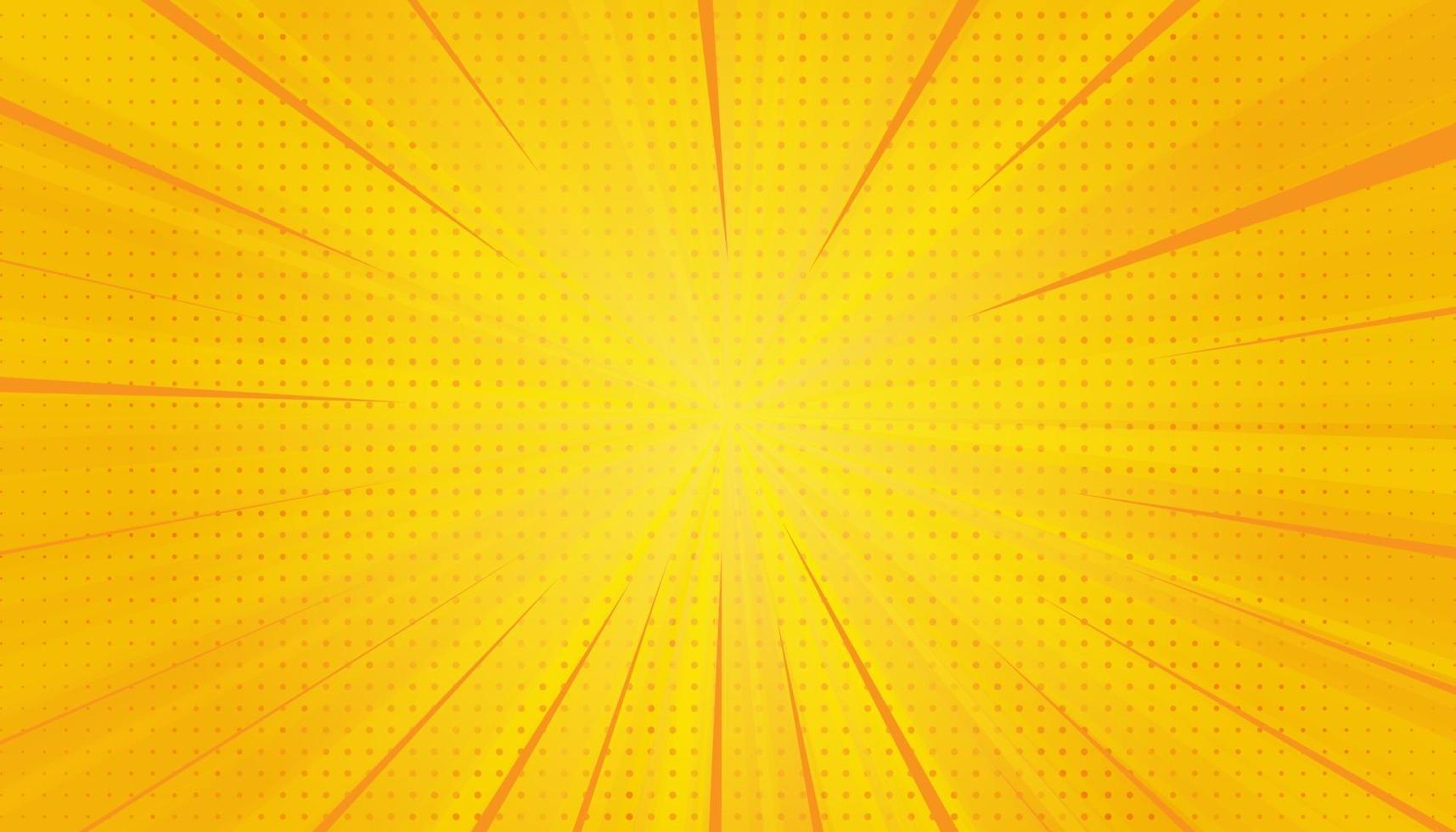 gele strips popart achtergrond. gradiënt halftone pop-art retro stijl vector