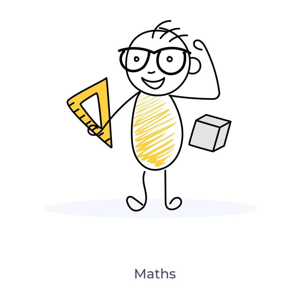 cartoon wiskunde concept vector