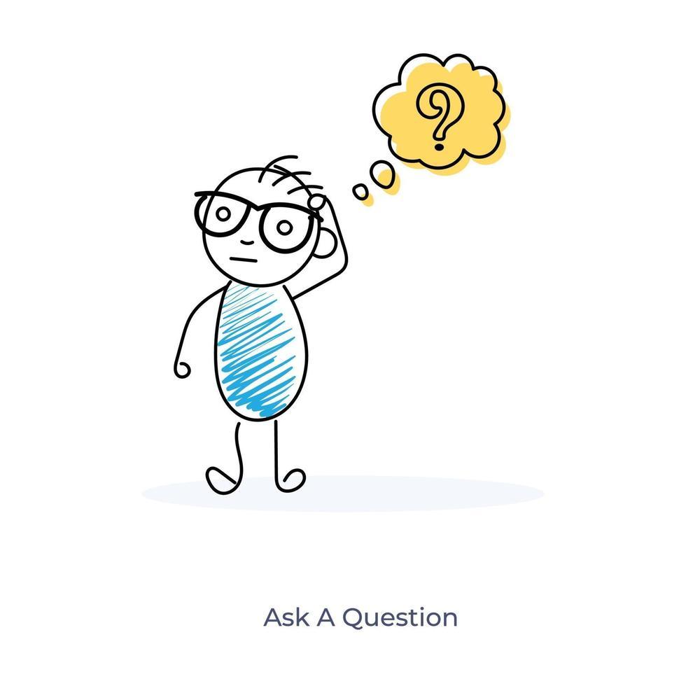 een vraag stellen vector