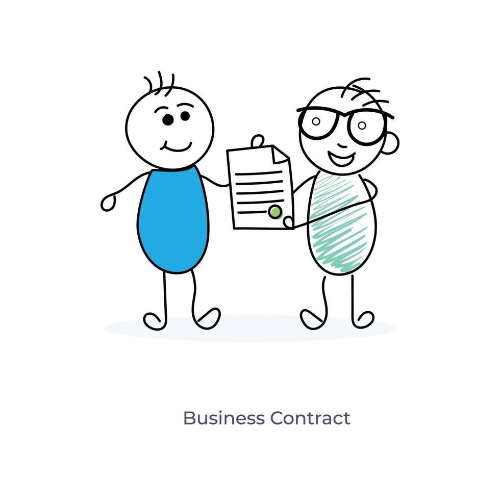cartoon zakenpartners vector