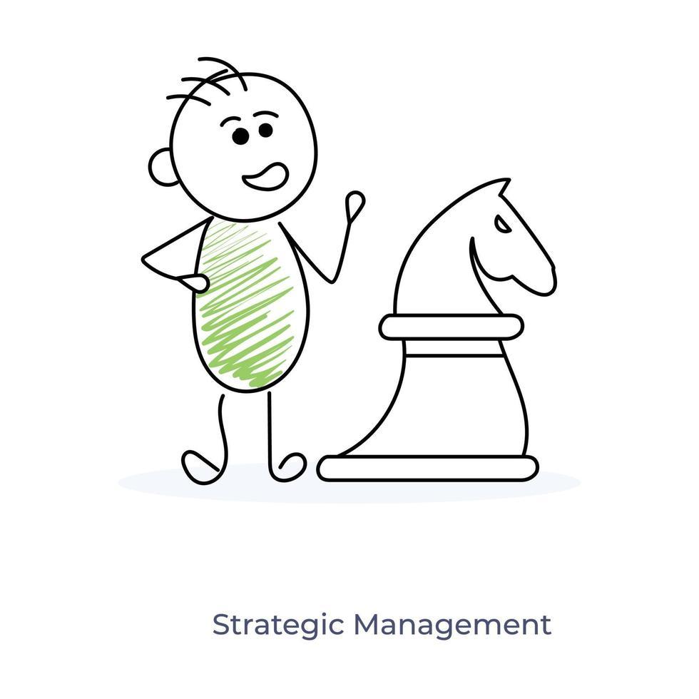 cartoon zakenman strategisch management vector