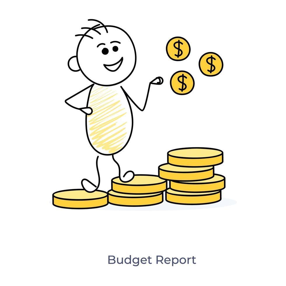 cartoon budget verslaggever vector