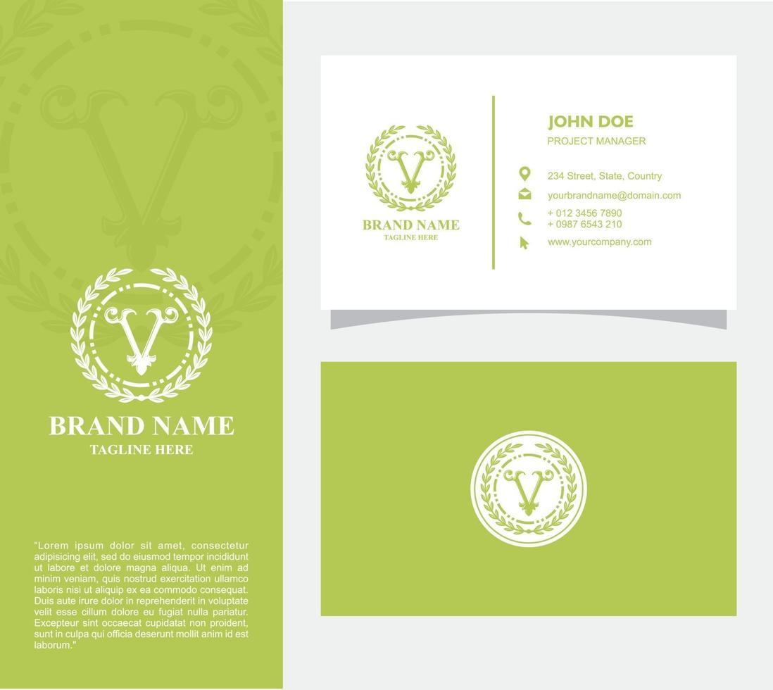visitekaartje met logo v vector, eps 10 vector