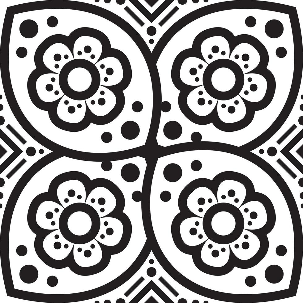 bloem mandala. vintage decoratieve elementen. oosters patroon, vectorillustratie. vector