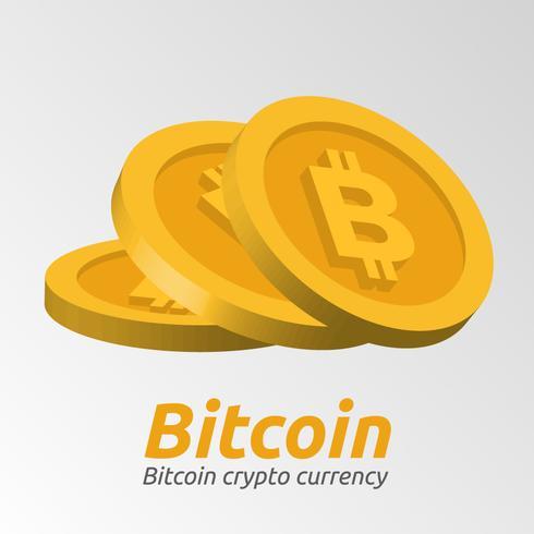 Gouden Bitcoin-symbolenachtergrond vector
