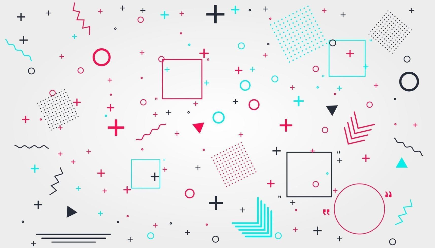 memphis kaart met geometrische vormen. luxe modeontwerp, jaren 80 en 90. vector