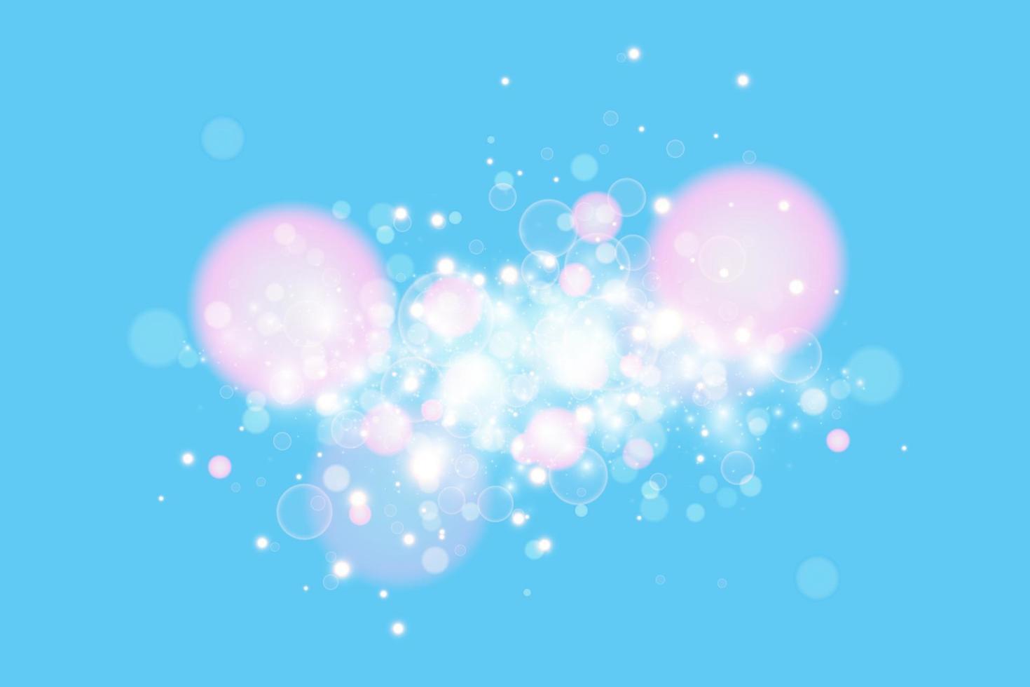blauwe achtergrond met lichteffect. vector abstracte achtergrond blauwe magische lichten