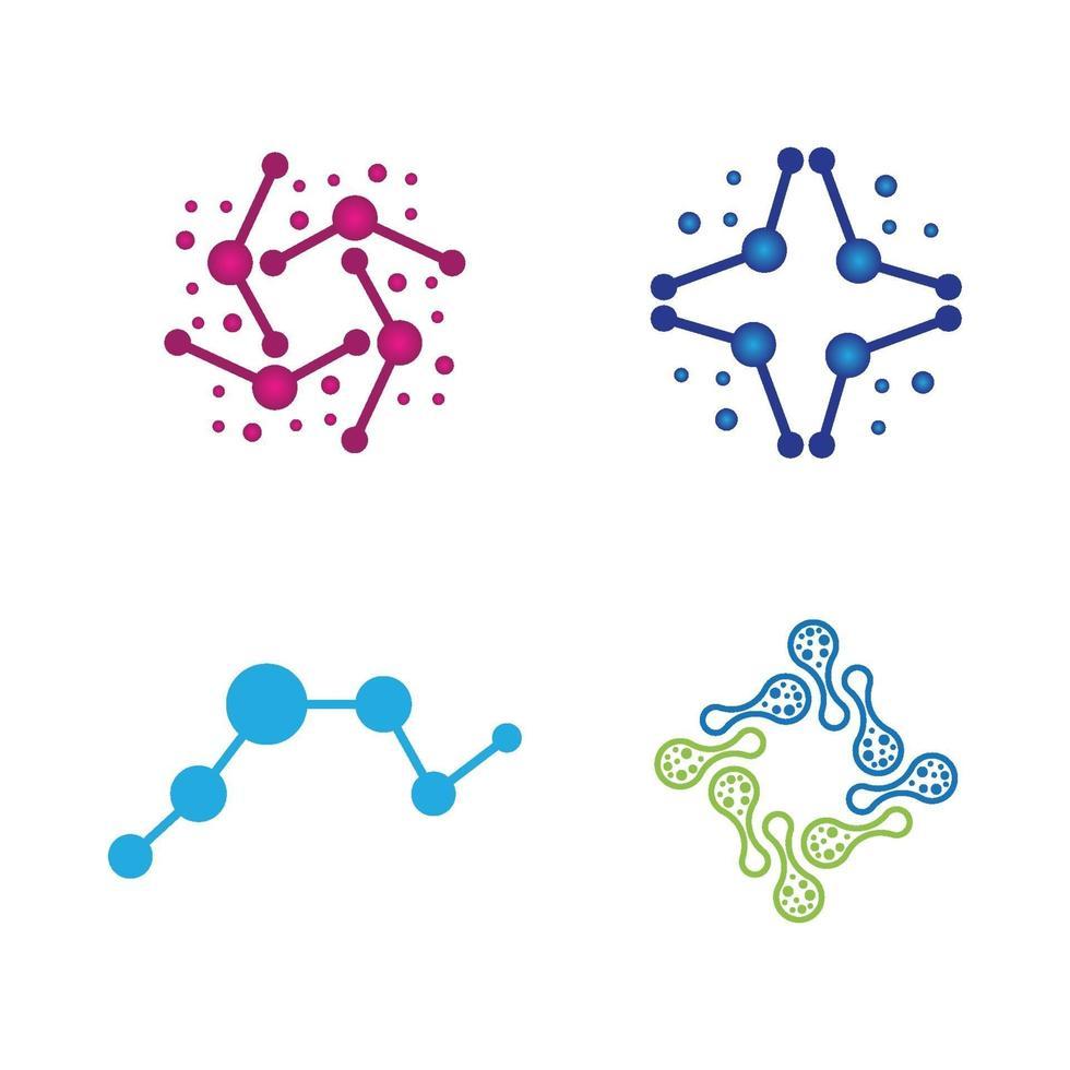 molecuul logo ontwerp vector