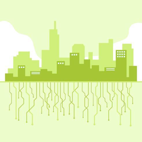 Futurisme Cityscape vector