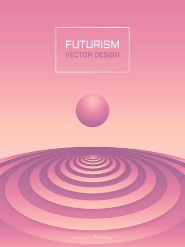 Achtergrond van de Dekking van het futurisme de Abstracte 3D Vector