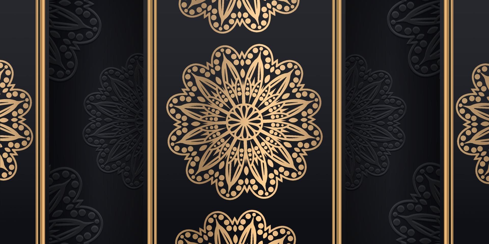 luxe sier mandala ontwerp achtergrond in gouden kleur, vectorillustratie vector