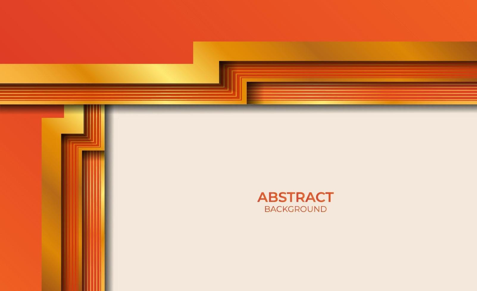 abstract stijlontwerp goud en oranje vector