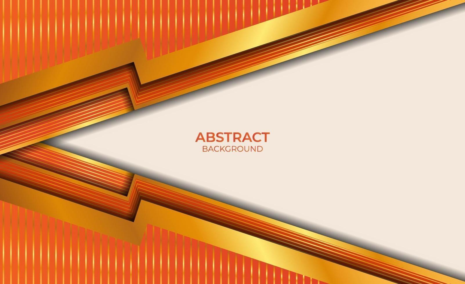 abstracte oranje en gouden achtergrond vector