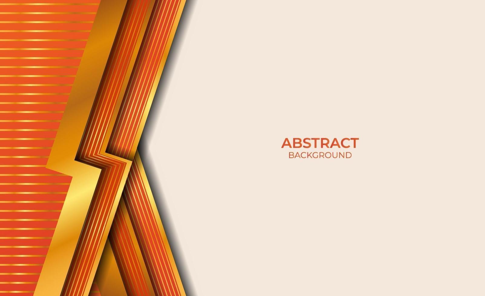 abstracte stijl gouden en oranje achtergrond vector